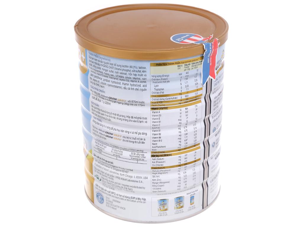 Sữa bột Abbott Grow Gold 3+ vani lon 1,7kg (3 - 6 tuổi) 3