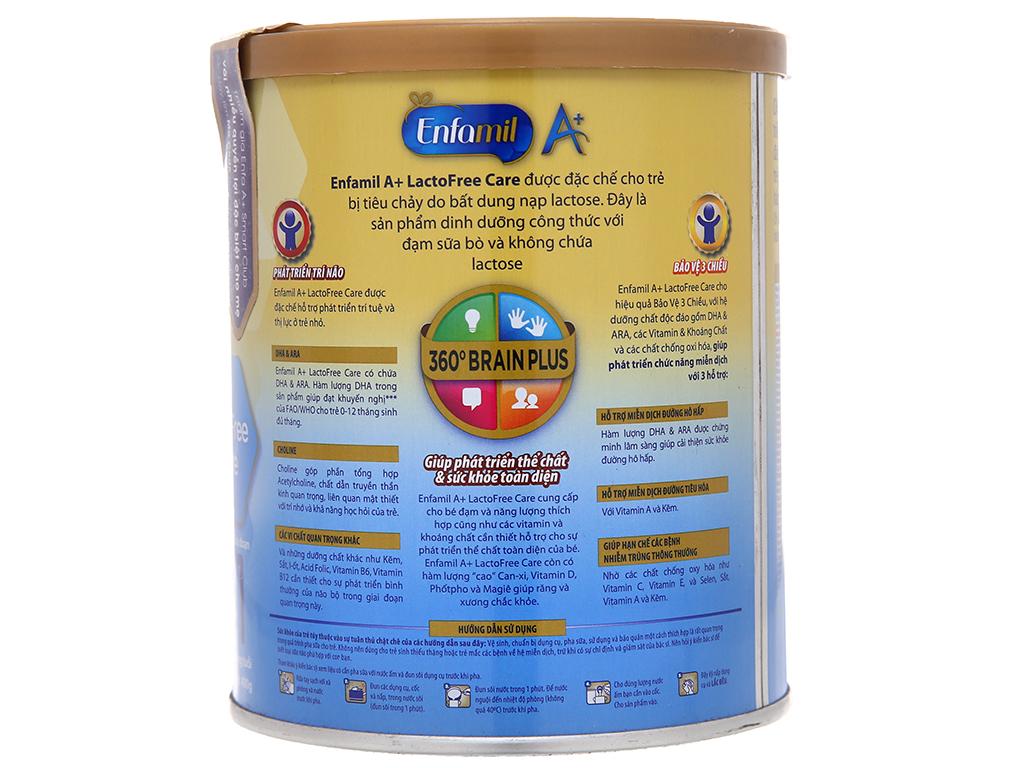 Sữa bột Enfamil A+ LactoFree Care 1 lon 400g (0 - 12 tháng) 3