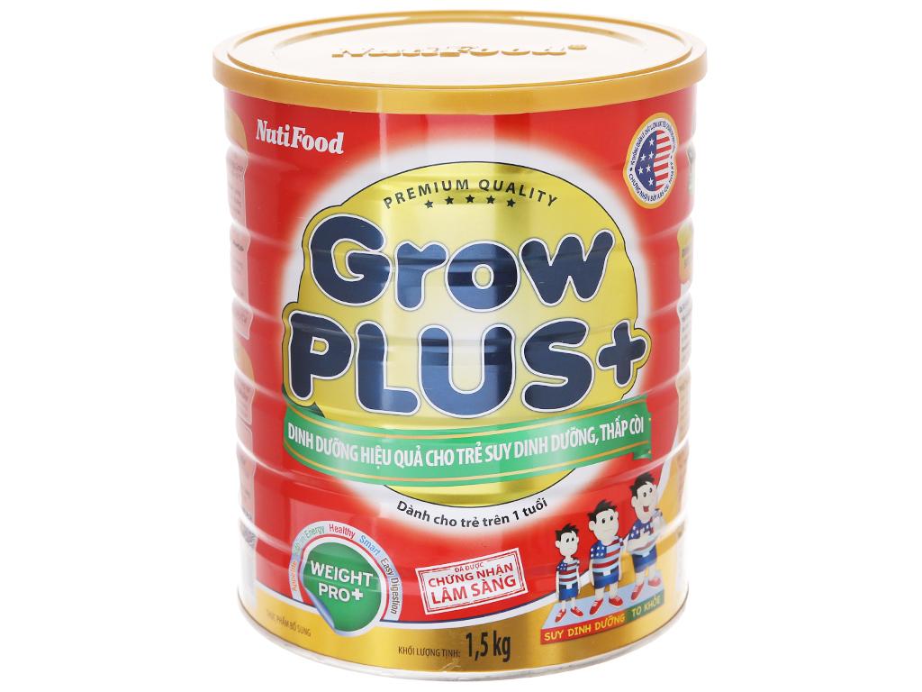 Sữa bột NutiFood Grow Plus+ suy dinh dưỡng thấp còi lon 1,5kg (trên 1 tuổi) 2