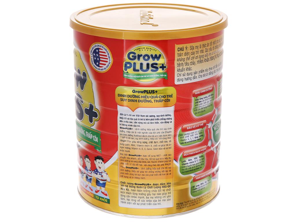 Sữa bột NutiFood Grow Plus+ suy dinh dưỡng thấp còi lon 1,5kg (trên 1 tuổi) 3