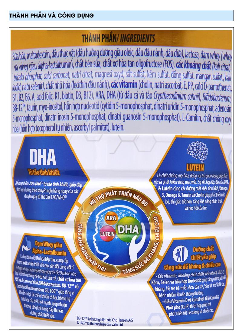 Sữa bột Optimum Gold 2 lon 400g (6 - 12 tháng) 6