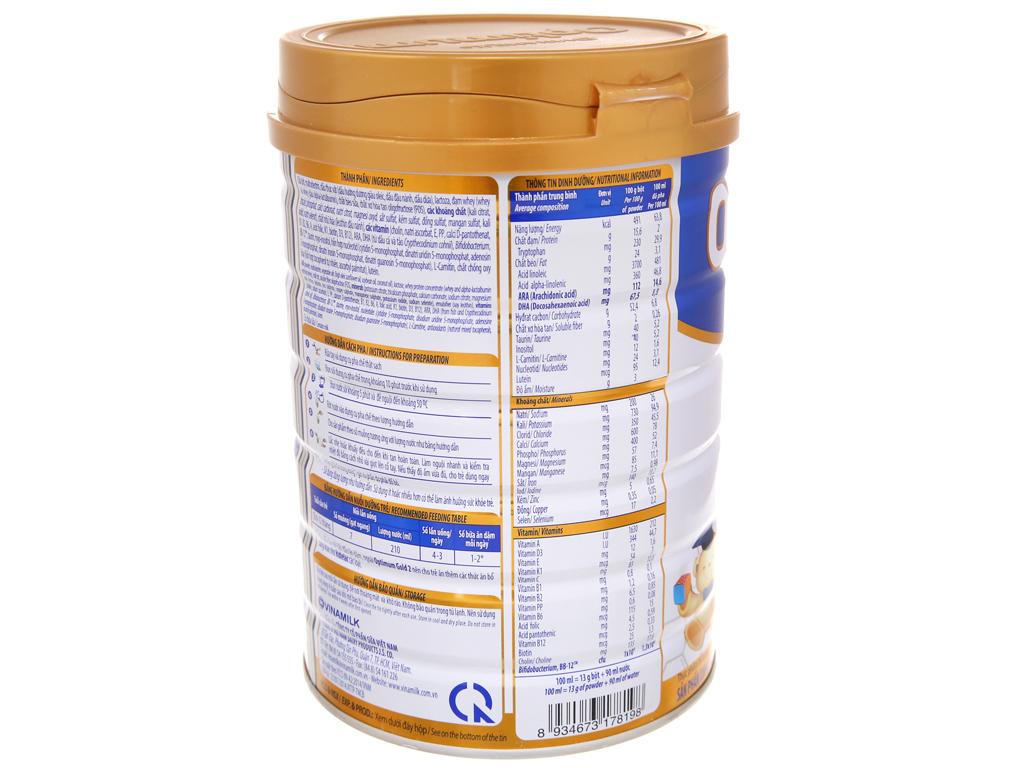 Sữa bột Optimum Gold 2 lon 900g (6 - 12 tháng) 4