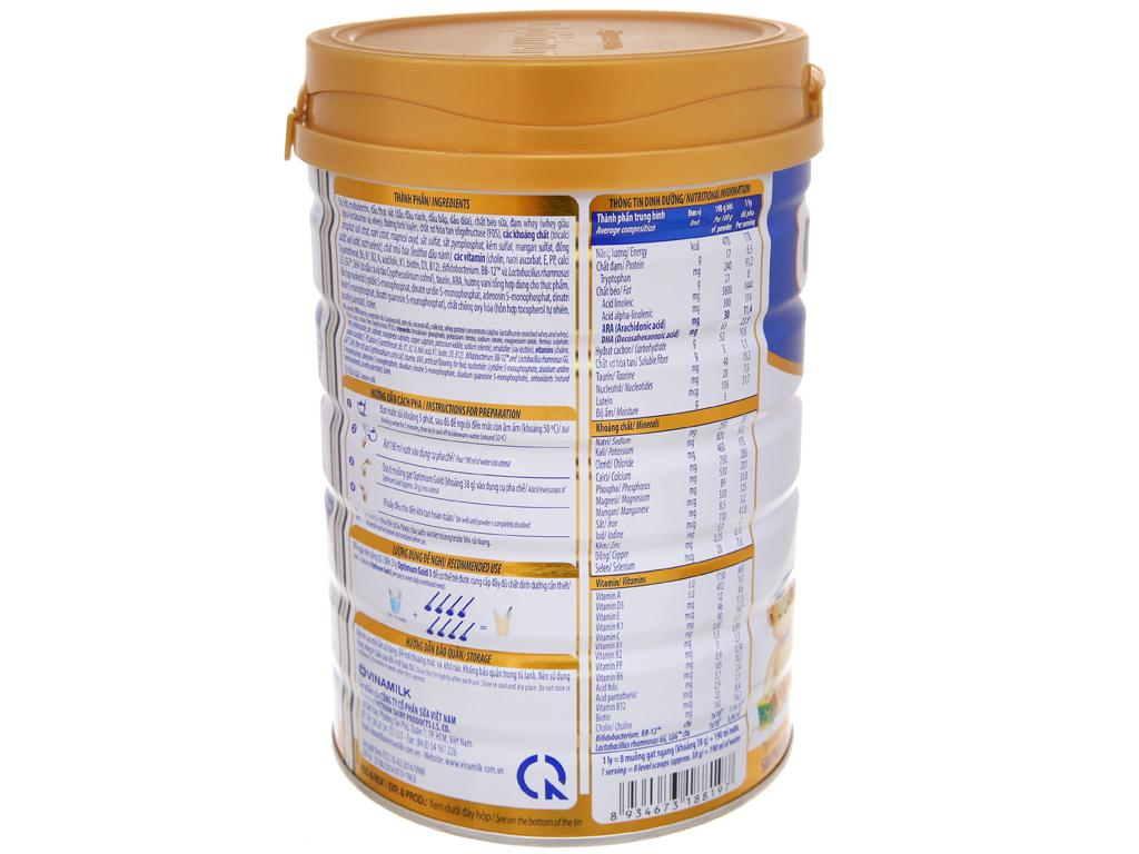 Sữa bột Optimum Gold 3 lon 900g (1 - 2 tuổi) 4