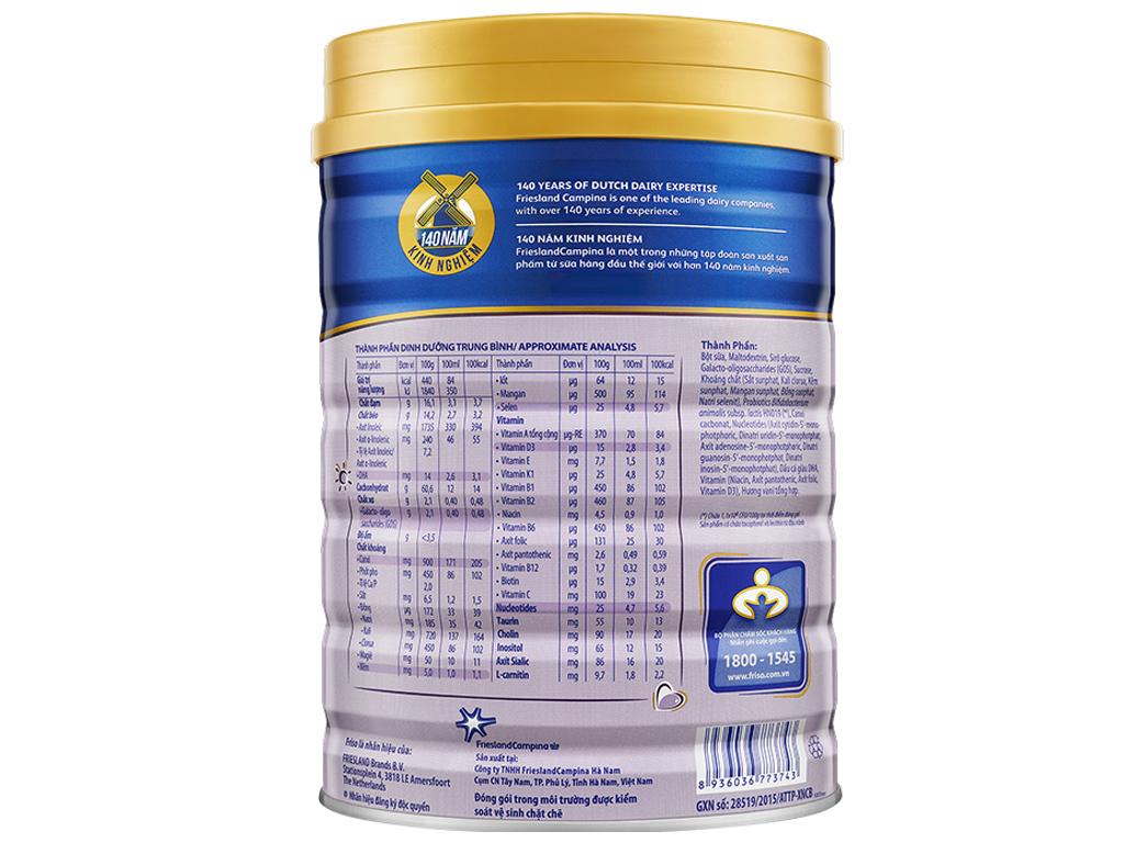 Sữa bột Friso Gold 5 vani hộp 1,5kg (trên 4 tuổi) 2
