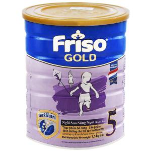 Sữa bột Friso Gold 5 vani hộp 1.5kg (trên 4 tuổi)