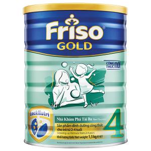 Sữa bột Friso Gold 4 vani lon 1,5kg (2 - 4 tuổi)
