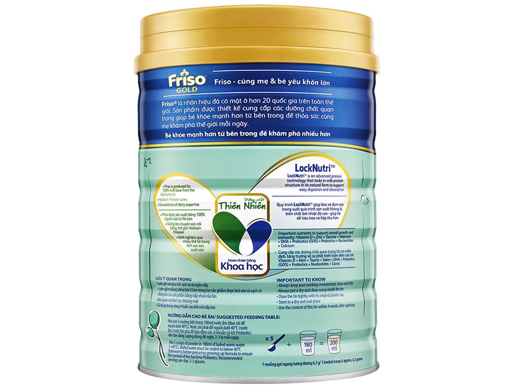 Sữa bột Friso Gold 4 vani lon 1,5kg (2 - 4 tuổi) 2