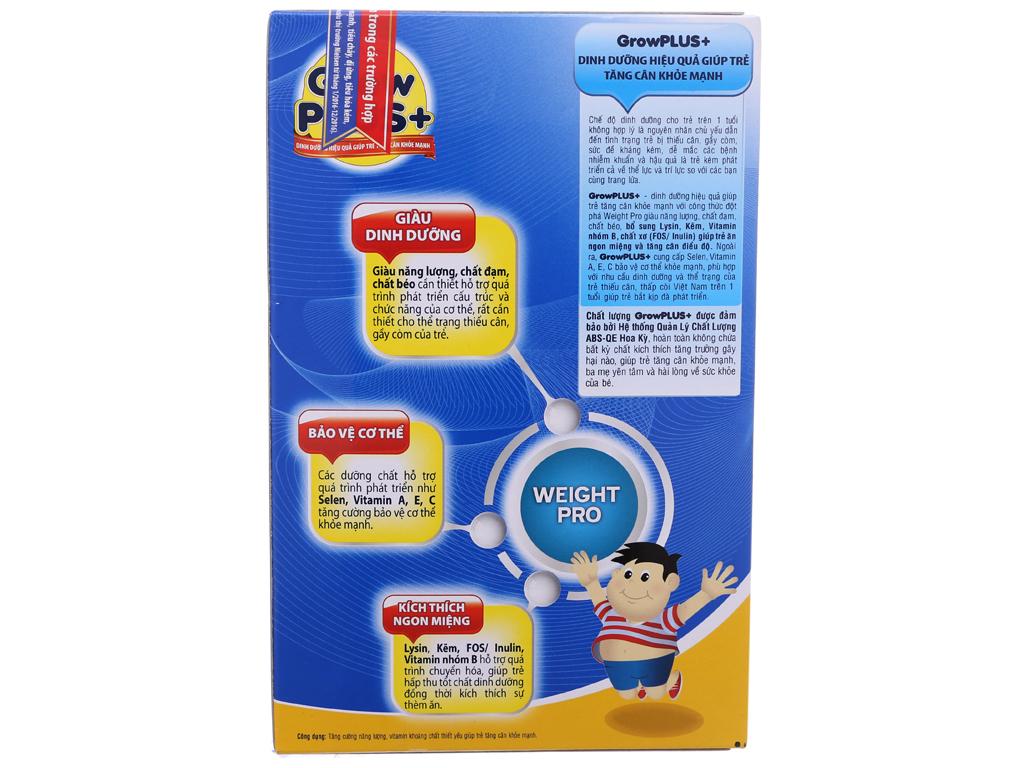 Sữa bột NutiFood Grow Plus+ tăng cân khoẻ mạnh hộp 400g (trên 1 tuổi) 3
