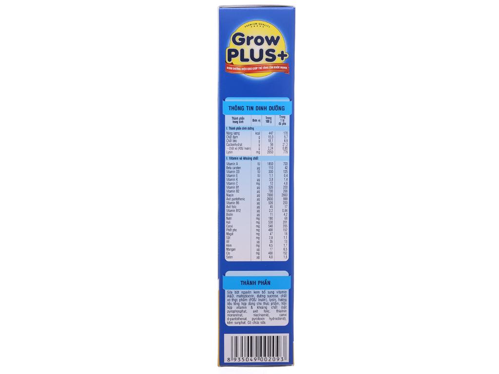 Sữa bột NutiFood Grow Plus+ tăng cân khoẻ mạnh hộp 400g (trên 1 tuổi) 4
