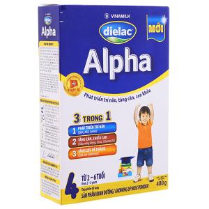 Sữa bột Dielac Alpha 4 hộp 400g (2 - 6 tuổi)