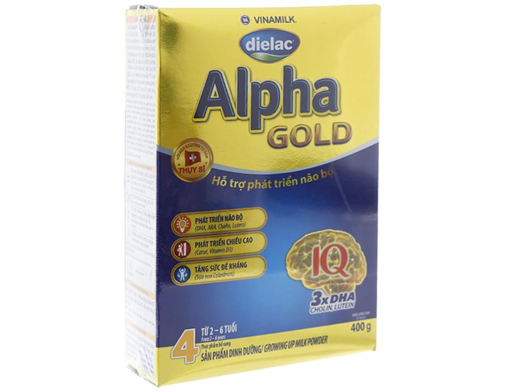 Sữa bột Dielac Alpha Gold 4 hộp 400g (2 - 6 tuổi) 1