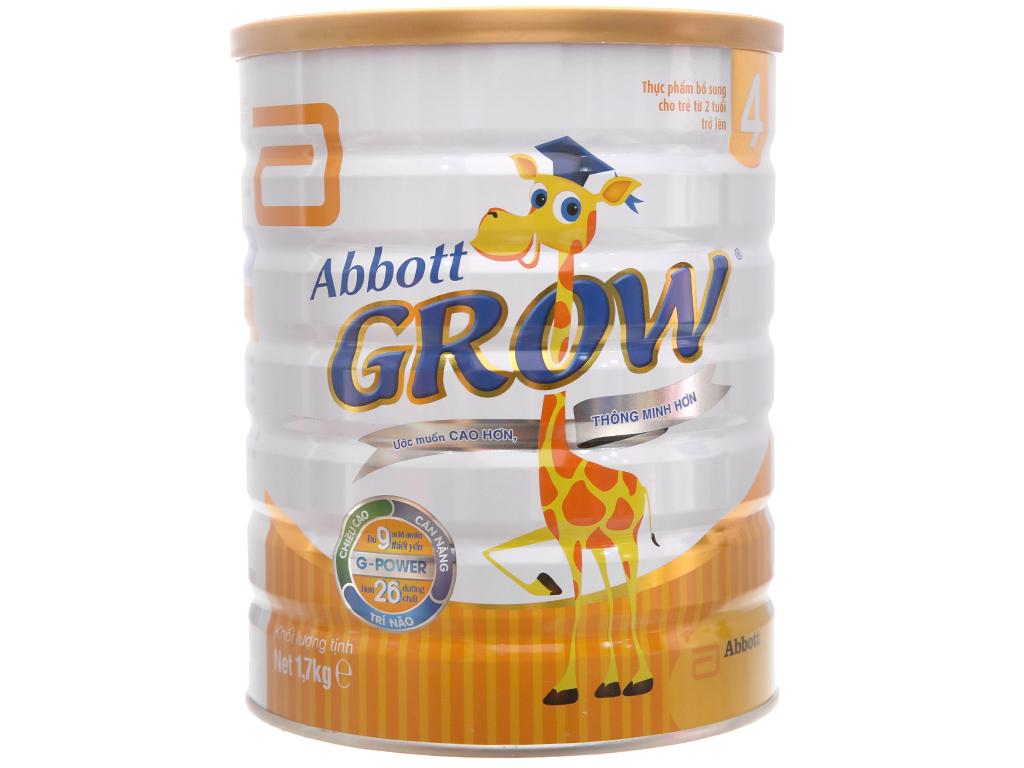 Sữa bột Abbott Grow 4 lon 1,7kg (trên 2 tuổi) 1