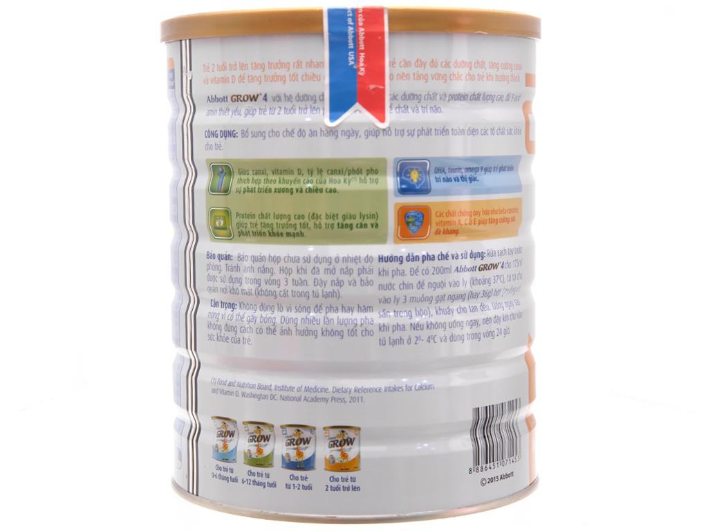 Sữa bột Abbott Grow 4 lon 1,7kg (trên 2 tuổi) 3