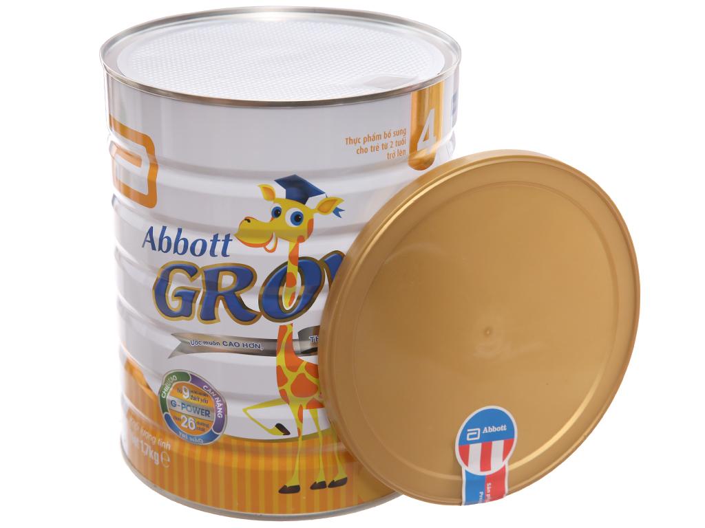 Sữa bột Abbott Grow 4 lon 1,7kg (trên 2 tuổi) 4