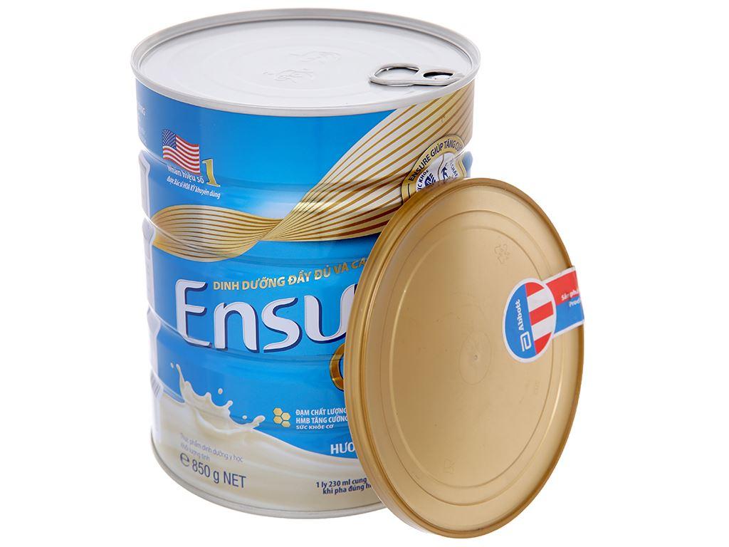 Sữa bột Ensure Gold vani ít ngọt lon 850g (từ 19 tuổi) 4
