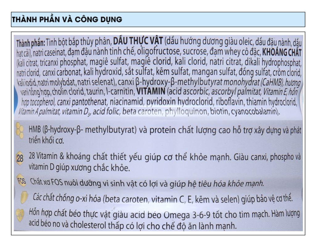 Sữa bột Ensure Gold vani ít ngọt lon 850g (từ 19 tuổi) 5