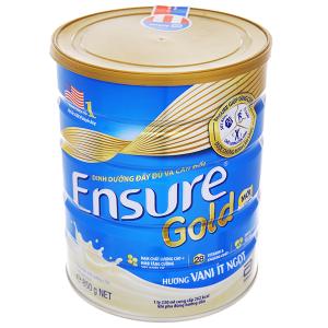 Sữa bột Ensure Gold vani ít ngọt lon 850g (từ 19 tuổi)