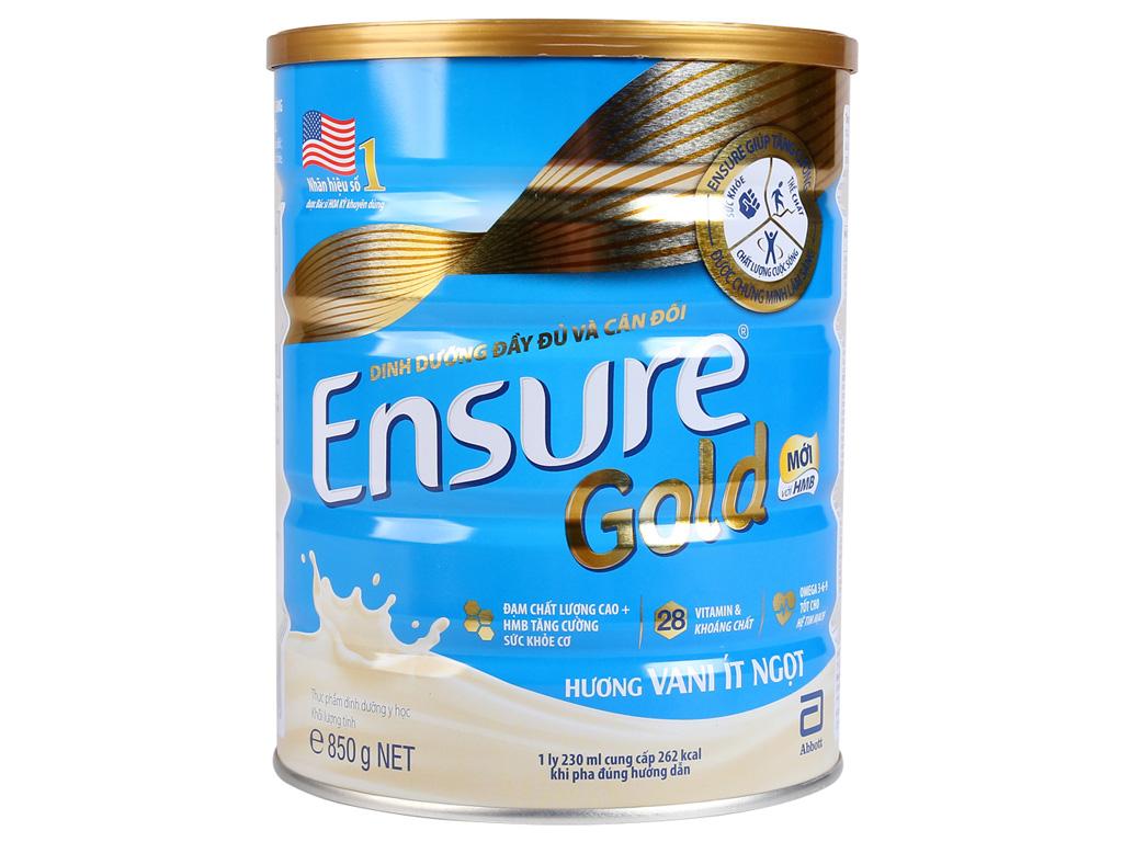Sữa bột Ensure Gold vani ít ngọt lon 400g (người lớn từ 19 tuổi) 1