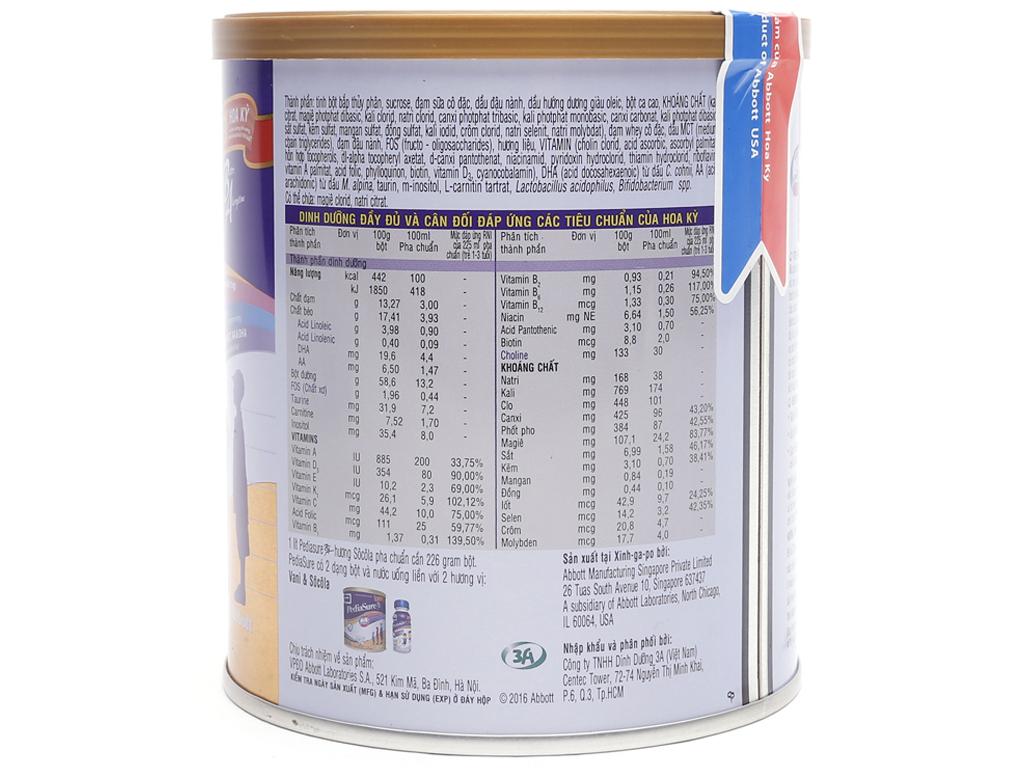 Sữa bột Abbott PediaSure BA sô cô la lon 400g (1 - 10 tuổi) 3