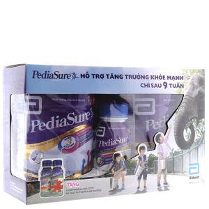 Hộp quà Abbott gồm 2 lon PediaSure BA vani 850g và 2 chai PediaSure BA 237ml