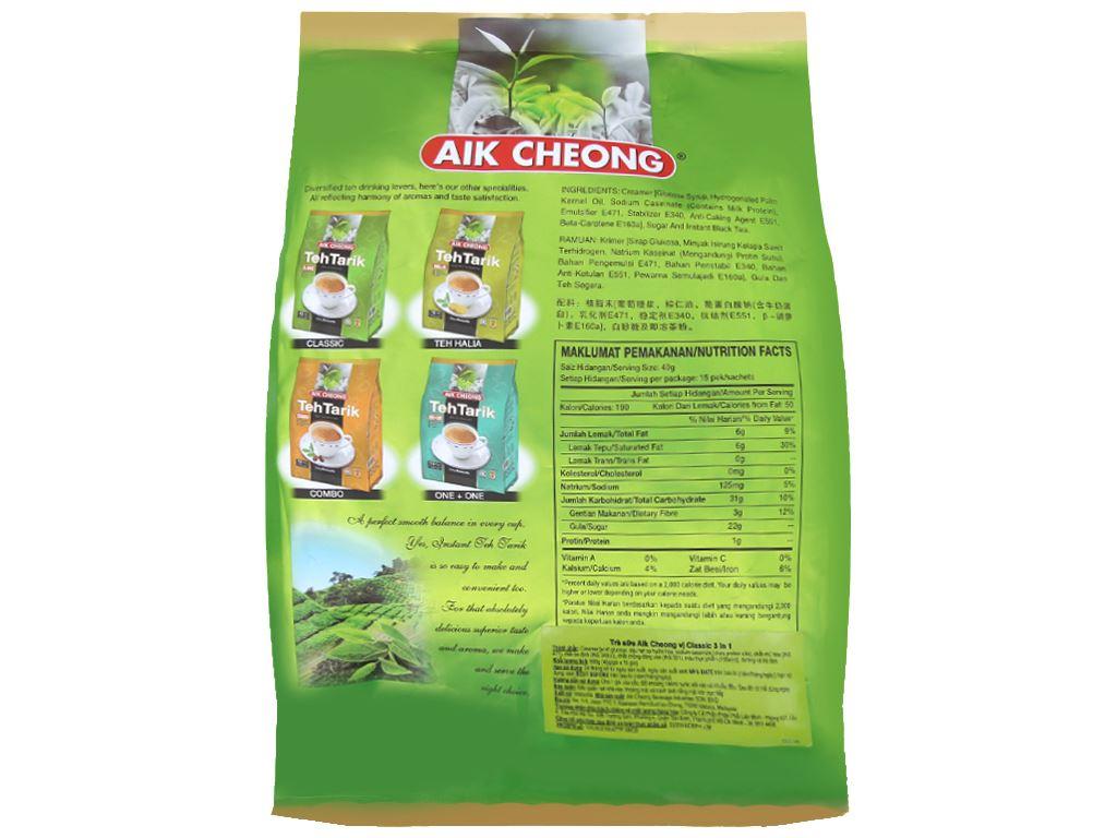 Trà sữa Aik Cheong TehTarik Classic 3 trong 1 bịch 600g (40g x 15 túi) 2