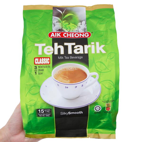 Trà sữa Aik Cheong TehTarik Classic 3 trong 1 bịch 600g (40g x 15 gói)