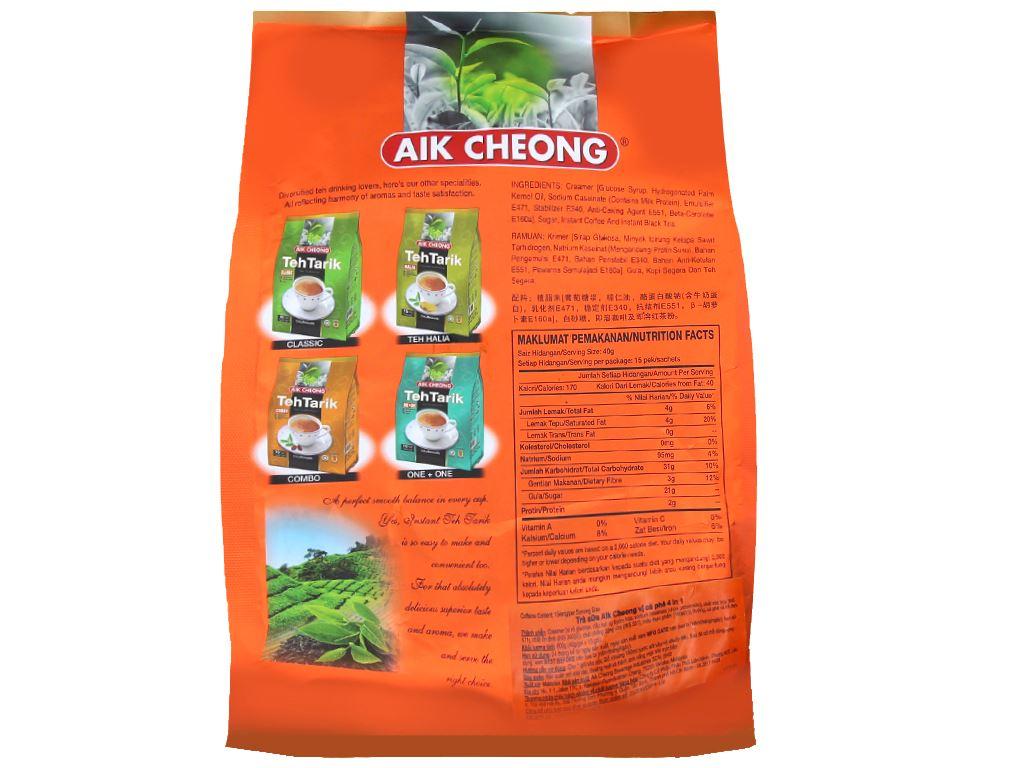 Trà sữa Aik Cheong TehTarik bịch 600g (40g x 15 túi) 2