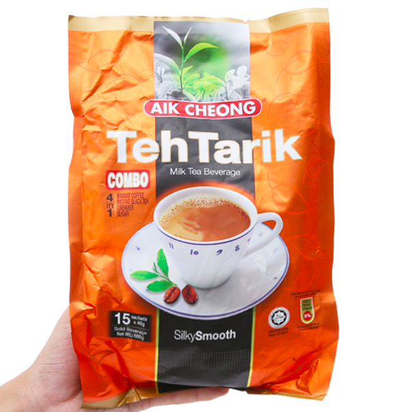 Trà sữa Aik Cheong TehTarik bịch 600g (40g x 15 gói)