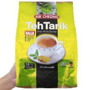 Trà sữa Aik Cheong TehTarik Halia 4 trong 1 vị gừng bịch 600g (40g x 15 túi)