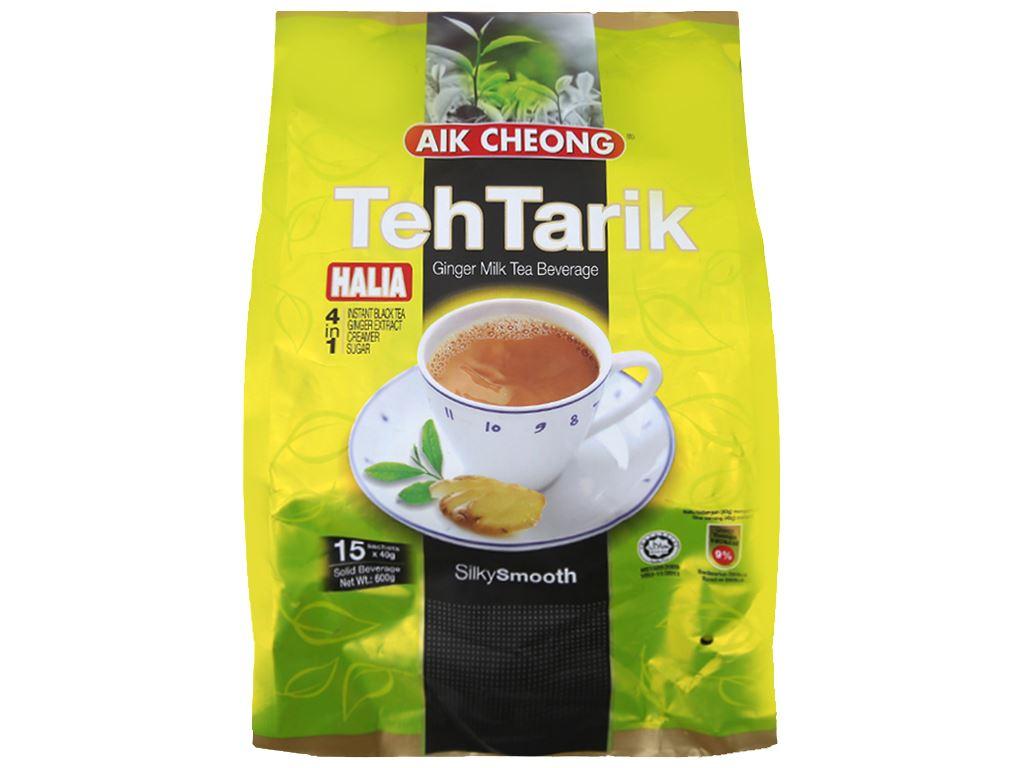 Trà sữa Aik Cheong TehTarik Halia 4 trong 1 vị gừng bịch 600g (40g x 15 túi) 1