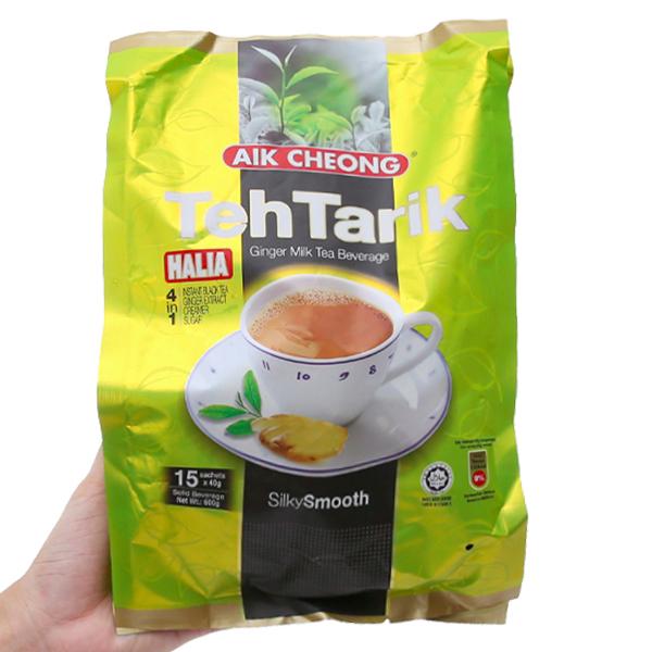 Trà sữa Aik Cheong TehTarik Halia 4 trong 1 vị gừng bịch 600g (40g x 15 gói)