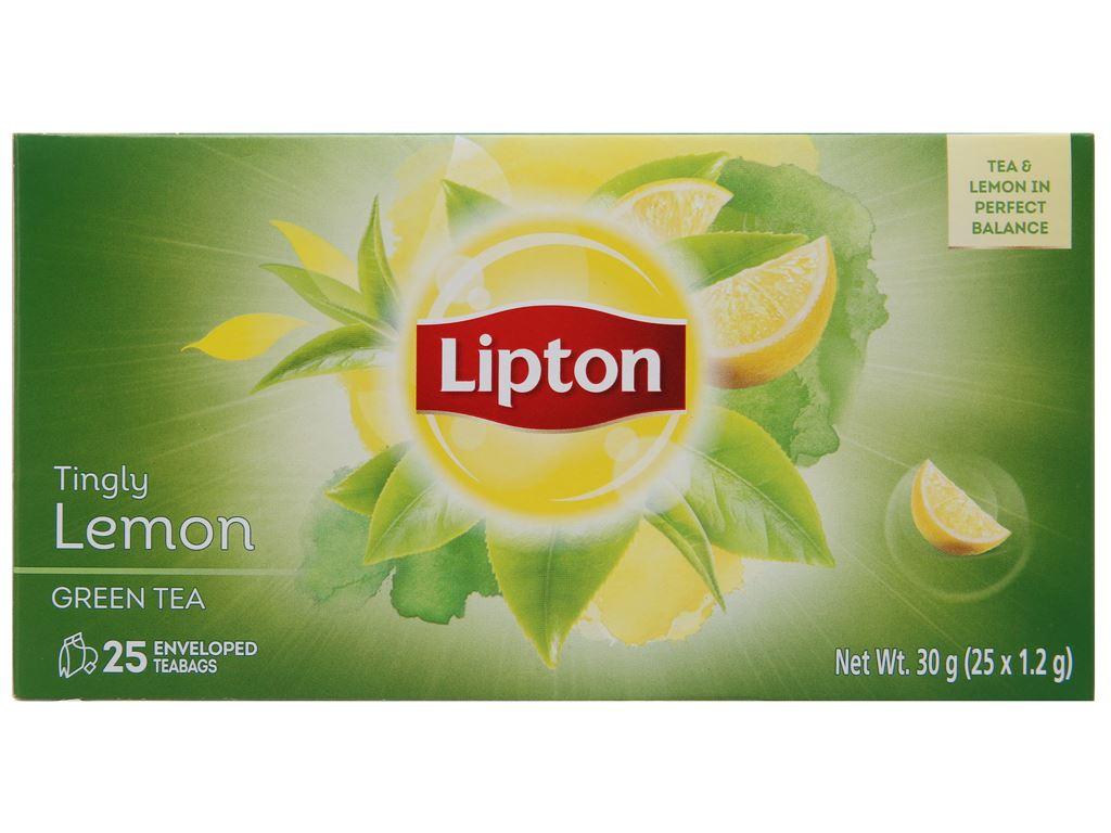 Trà xanh Lipton bung tỏa hương chanh 30g 2