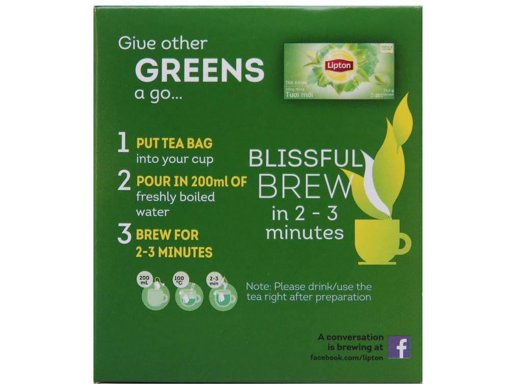 Trà xanh Lipton bung tỏa hương chanh 30g 3