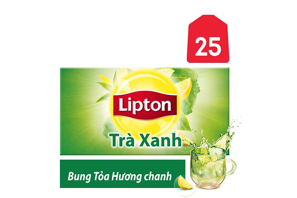 Trà Xanh Lipton Bung Tỏa Hương Chanh gói 1.2g ( hộp 25 gói)
