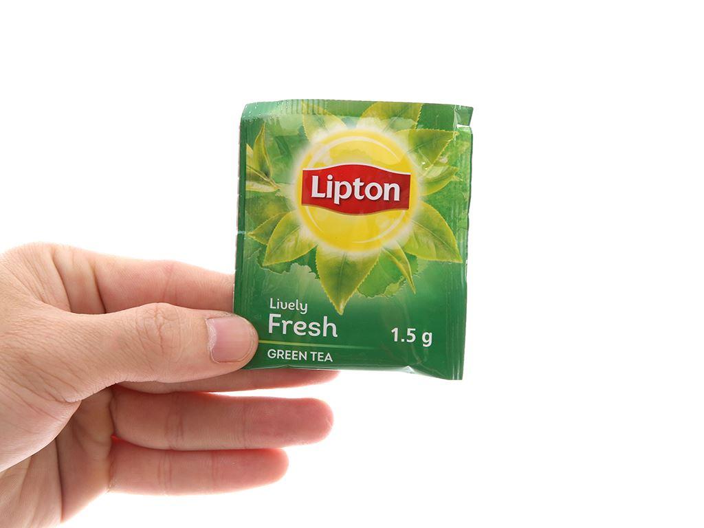 Hộp 25 túi trà xanh Lipton Sống động tươi mới 37.5g 5