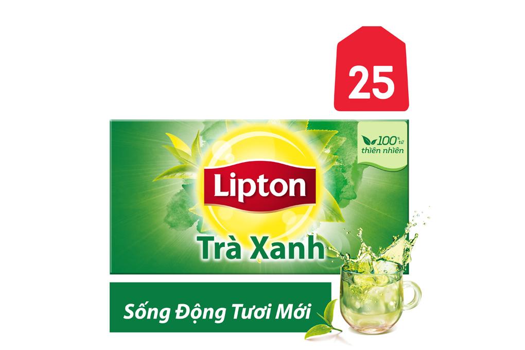 Trà Xanh Lipton Sống Động Tươi Mới gói 1.5g ( hộp 25 gói)