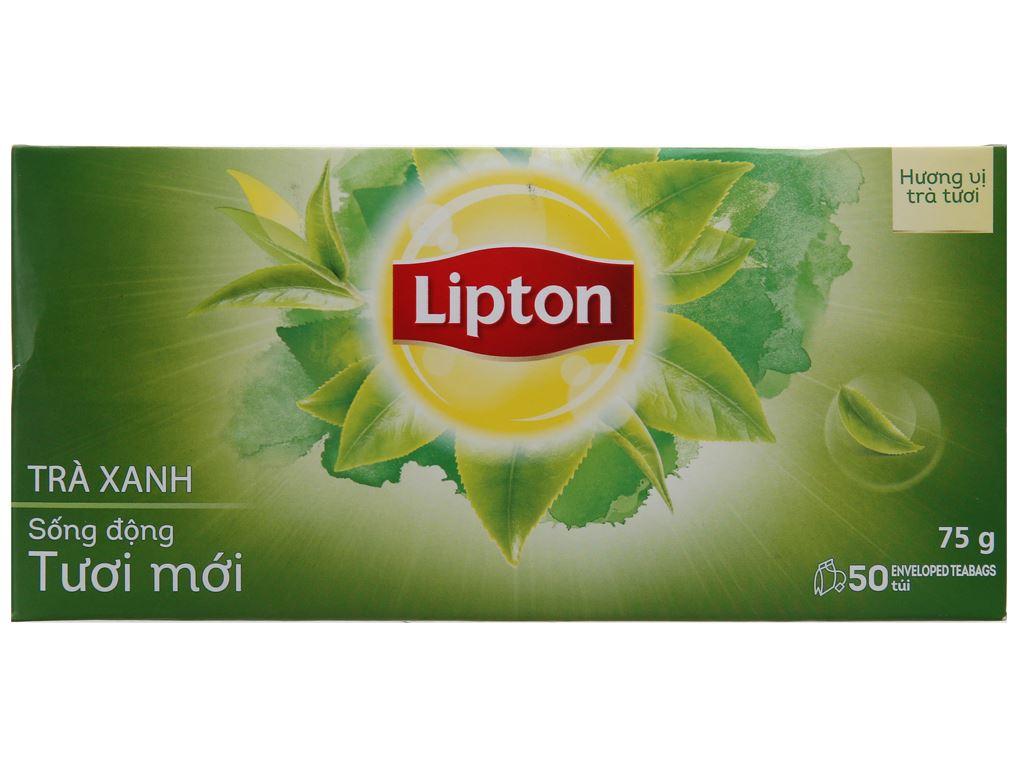 Trà xanh Lipton sống động tươi mới hộp 75g (1.5g x 50 túi) 2