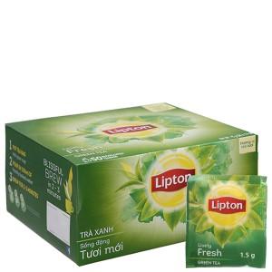Trà xanh Lipton sống động tươi mới hộp 75g (1.5g x 50 túi)