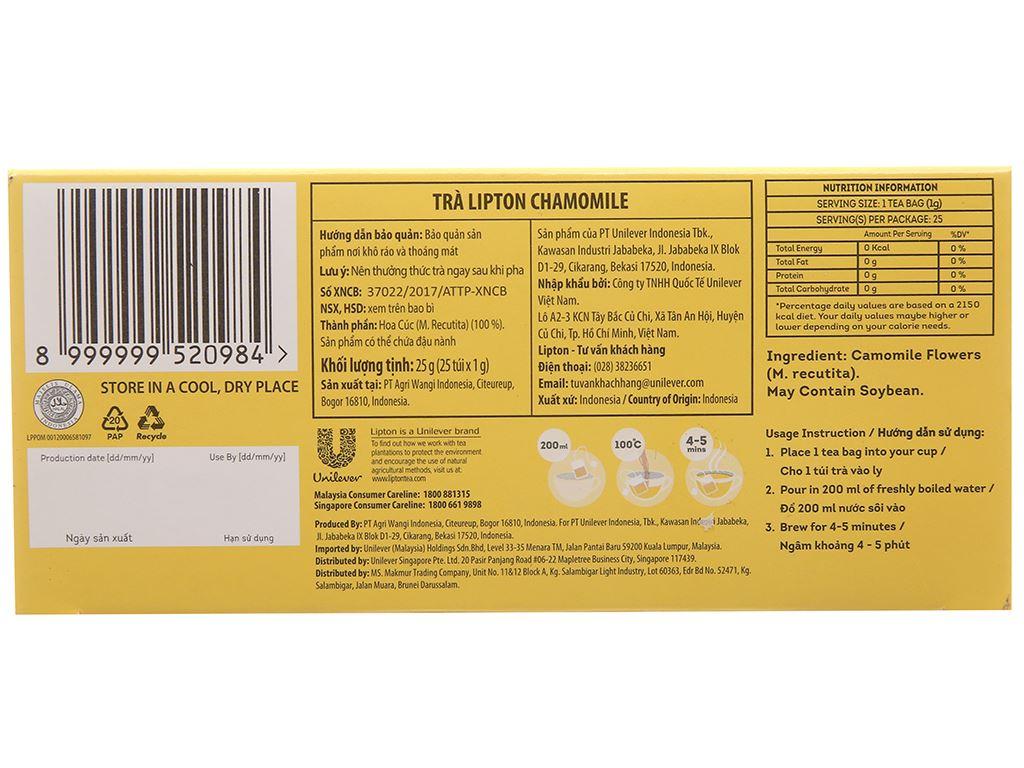 Trà hoa cúc Lipton Chamomile hộp 25g (1g x 25 túi) 3