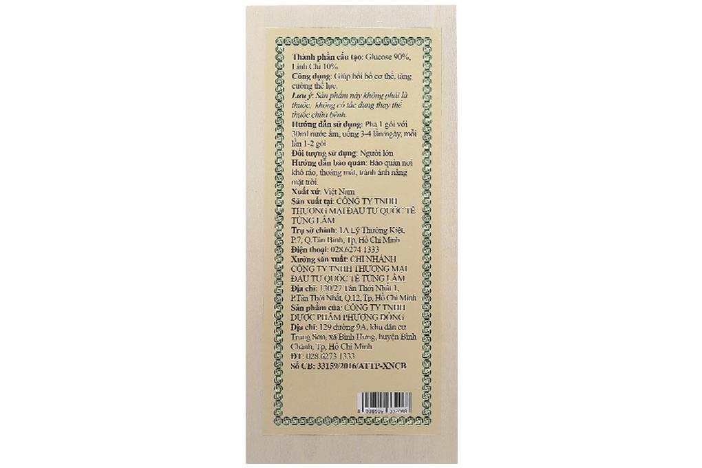 Trà linh chi Opha hộp gỗ 150g (50 gói)