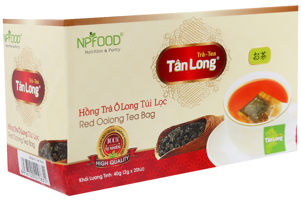 Hồng trà Ô Long Tân Long túi lọc 40g