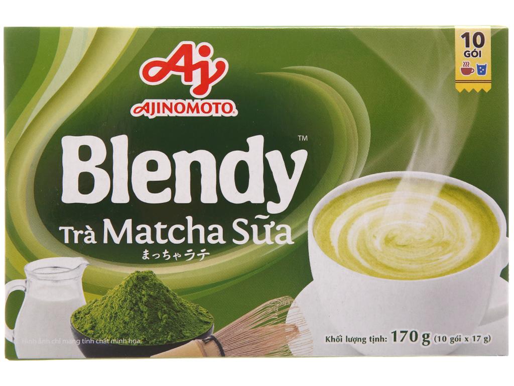 Trà sữa matcha Blendy hộp 10 gói 170g 2