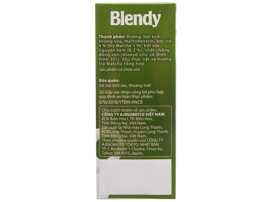 Trà sữa matcha Blendy hộp 10 gói 170g 3