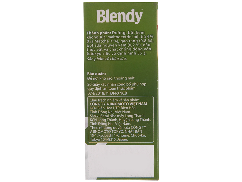 Trà matcha gạo rang Blendy 170g 3