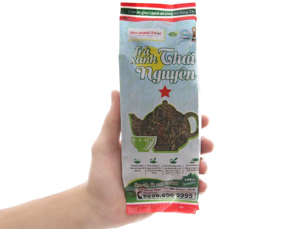 Trà xanh Thái Nguyên Hùng Thái sao đỏ 100g 5