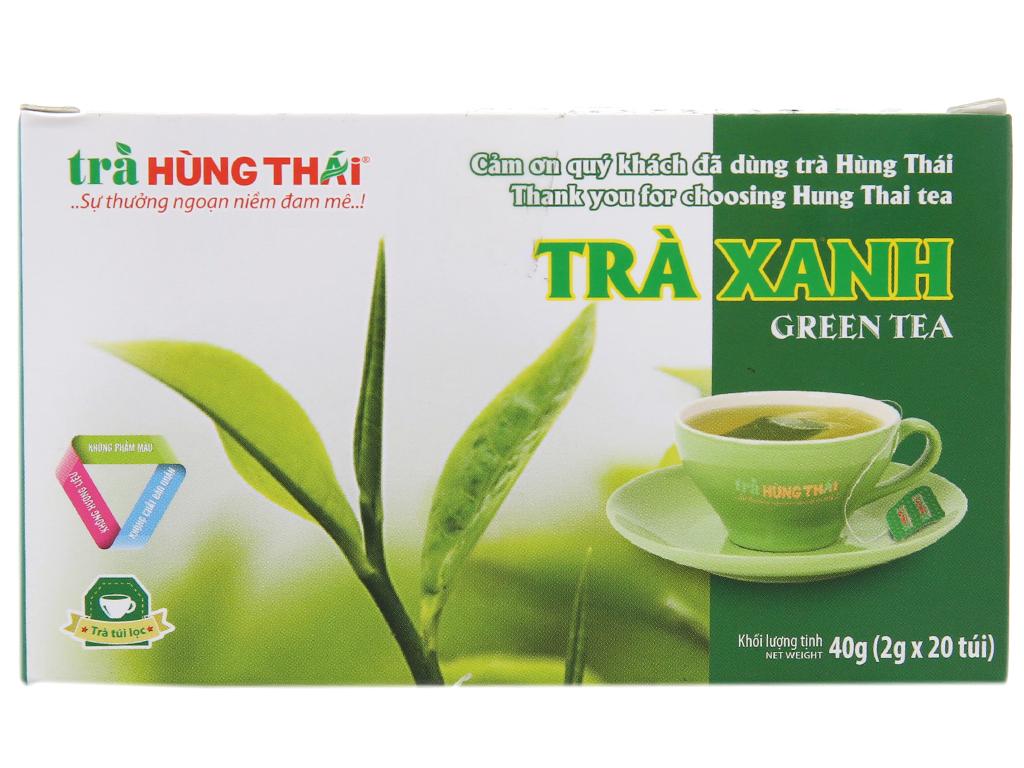 Trà xanh Hùng Thái hộp 40g (2g x 20 túi) 2