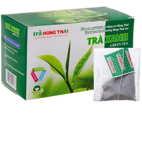 Trà xanh Hùng Phát hộp 20 gói 40g