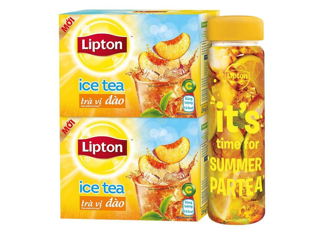 Combo 2 hộp Trà đào Lipton Ice Tea 224g 2
