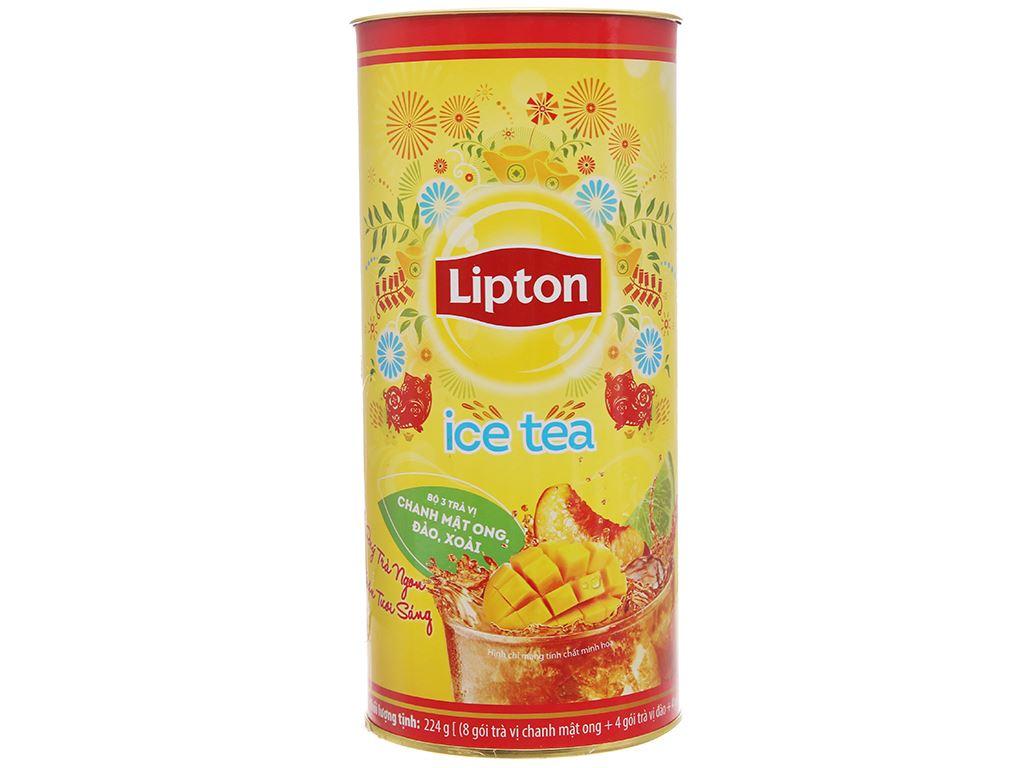 Trà xoài Lipton Ice Tea ống 224g (14g x 16 túi) 1