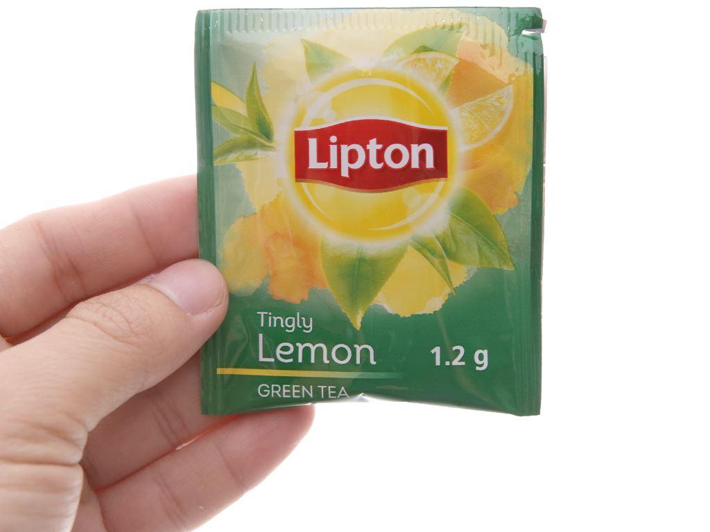 Trà xanh Lipton bung tỏa hương chanh ống mini 13.5g 3